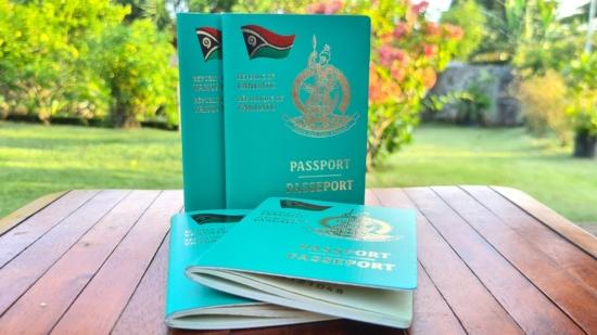 The Vanuatu Passport has an iconic teal-green / aqua color.